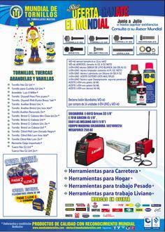 Ganate el MUNDIAL aprovecha nuestros precios en  #Tornillo G2,G8, Inoxidables, bristol, milimetricos , #varillas , arandelas Herramientas para Carretera , Hogar, trabajo Pesado, trabajo liviano  con marcas como  WD-40 Colombia , #irwin ,#LincolnElectric , #Stanley #Locite  entre otras   #Herramientas  #ferretería #soldadura Lenox Twill Irwin Lincoln Electric WD40