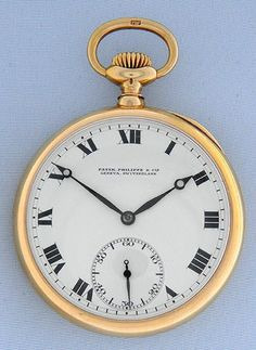 Bogoff Antique Pocket Watches Patek Philippe First Class Observatory Chronometer - Bogoff Antique Pocket Watch # 6766