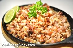 Lechon Sisig is a dish made from left over lechon or roasted pig. This can be enjoyed as a main dish with rice, along with calamansi and hot sauce. This also makes a good pulutan.  Who says that left over lechon is limited only to lechon paksiw? There are lots of dishes that you can make with left over roast pig; this lechon sisig is one example.