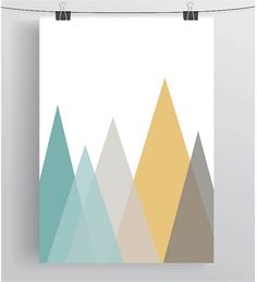 Items similar to Scandinavian Print Scandinavian Art Purple Print Purple Nursery Art Turquoise Print Turquoise Art Nursery Print Mountain Print Geometric Art on Etsy Scandi Art, Scandinavian Art, Mint Walls, Yellow Art, Mountain Art, Geometric Art, Geometric Designs, Modern Prints, Nursery Wall Art
