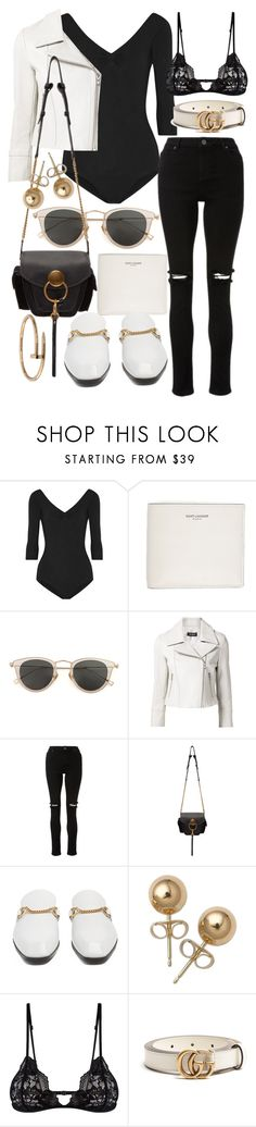 """""""Untitled #22008"""" by florencia95 ❤ liked on Polyvore featuring Ballet Beautiful, Yves Saint Laurent, Issey Miyake, Yigal AzrouÃ«l, Chloé, STELLA McCARTNEY, Bling Jewelry, Mosmann, Gucci and Cartier"""