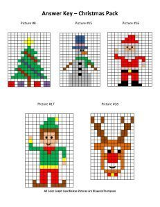 "Christmas Mystery Picture Graphs- Christmas tree, snowman, santa, elf, and rudolph"" data-componentType=""MODAL_PIN Christmas Perler Beads, Christmas Math, Christmas Knitting, Christmas Cross, Christmas Tree, Xmas Cross Stitch, Cross Stitching, Cross Stitch Embroidery, Cross Stitch Patterns"