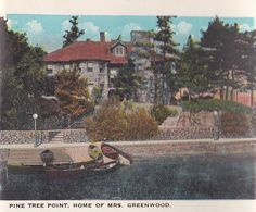 Vintage postcard of Pine Tree Point, The Thousand Islands