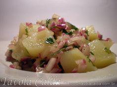 Salada de Batata Quente com Cebola