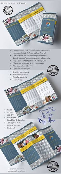 Brochure Trifold, File Organization, Text Fonts, Business Presentation, Marketing, Facebook
