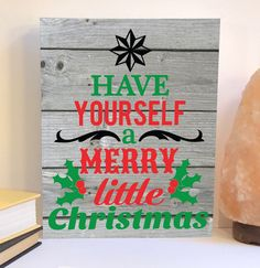 Have yourself a merry little Christmas wood sign, Christmas wood decor, farmhouse Christmas sign, Christmas decor, Christmas wall art
