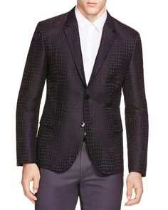 HUGO Arnando Snake Print Regular Fit Blazer