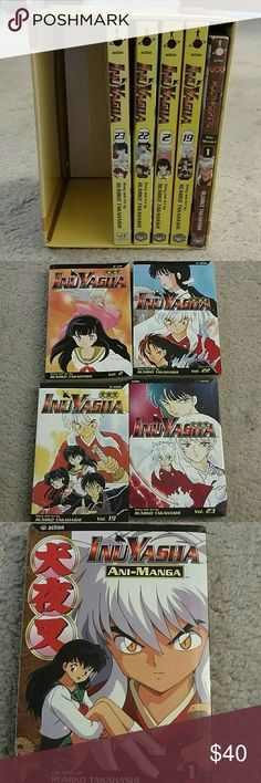 5 Inuyasha mangas with collector's box I am offering you 5 Inuyasha mangas with a collector's Box.  1: Inuyasha v1 (ani-manga full color),  2: Inuyasha v2 manga,  3: Inuyasha v22 manga,  4: Inuyasha v19 manga,  5: Inuyasha v23 manga  AND a collector's box. The box came with v19 and a figurine. I no longer have the figurine and it will therefore not be included.   Accepting offers!!! Inuyasha Accessories