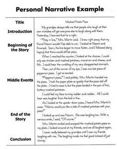 elisa landero elisalandero  writing experience essay sample writing experience essay example personal narrative writing examples