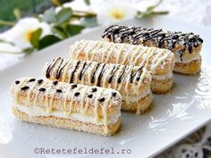prajitura din piscoturi cu crema de mascarpone Romanian Desserts, Romanian Food, Sweet Recipes, Cake Recipes, Praline Recipe, Easy Sweets, Czech Recipes, Biscuit Recipe, Food Cakes