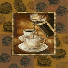 Brew Up New Life Into Your Coffee Habit. We all love that cup of coffee in the morning, but often times are mystified as to why our homemade cup of java doesn't taste as good as the ones we get at Decoupage Vintage, Decoupage Paper, Vintage Art, Coffee Barista, Coffee Shop, Coffee Artwork, Coffee With Friends, Coffee Theme, Tea Art