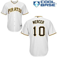 56afd3308d1 Get this Pittsburgh Pirates Jordy Mercer Home Cool Base Replica Jersey at  ThePittsburghFan.com Jeff