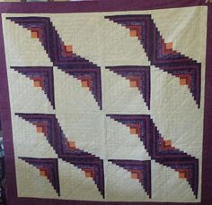 Yorkshire Modern Quilt Guild. What a cool way to use log cabin blocks!