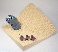 #DUNE sandworm and fremen done in LEGOS