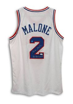 Moses Malone Philadelphia 76ers Autographed White Throwback Jersey  Inscribed