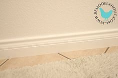 I don't know if you have this same problem, but our house is full of dinky, tiny base board moldingsthat are hardly an inch taller than the carpet.  Do you know what I mean?   Here is a picture, complete with dust and junk. I mean I guess it is nice that I have base moldings at all, it is …