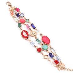 Kim Vivid Charm Bracelet in red mix