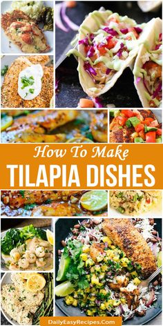 How To Make Tilapia Dishes That Whole Family Will Love – Healthy Food: Recipes, food and diet, weight loss Healthy Food, Healthy Eating, Yummy Food, Healthy Recipes, Meatless Recipes, Healthy Lunches, Fish Recipes, Seafood Recipes, Cooking Recipes
