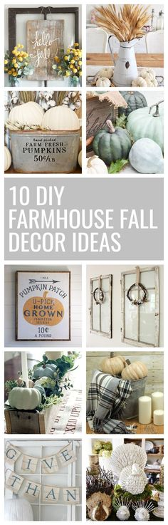 10 DIY Farmhouse Fall Decor Ideas