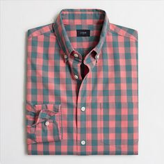 Shop J.Crew Factory for the Washed shirt in gingham for Men. Find the best selection of Men Shirts & Tops available in-stores and online. Discount Mens Clothing, J Crew Style, Gingham Shirt, Gentleman Style, Shirt Style, Men Casual, Casual Attire, Button Down Shirt, Clothes For Women