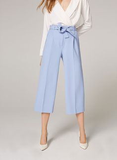 Uterqüe Spain - Canary Islands Product Page - Ready to wear - Trousers - Culotte trousers with tie waist - 89