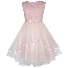 Cheap clothes size, Buy Quality kids clothes size directly from China fashion girl dress Suppliers: Sunny Fashion Flower Girls Dress Blush Belted Wedding Party Bridesmaid 2018 Summer Princess Dresses Kids Clothes Size 4-12
