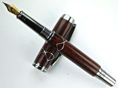 Handcrafted Wooden Pen Hand Turned Cocobolo by MikesPenTurningZ, $139.00