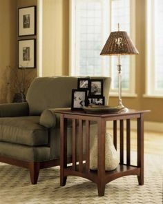 Kincaid Gathering House Solid Wood End Table in Cherry 43-024