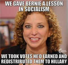 We gave Bernie a Lesson in socialism. We took votes he'd earned and redistributed them to Hillary.