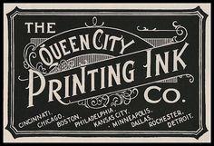 Typography Vintage Printing Ink