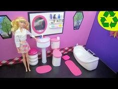▶ How to Make a Doll Bathroom Sink - Recycling - Really Works - YouTube