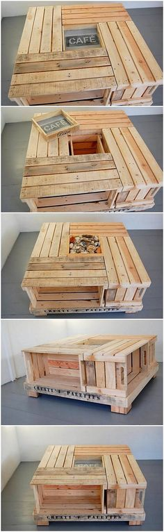 In this idea of the rustic wood pallet coffee table you can view the excess of the planks of the wood pallet stacking that are used in it. It is a form of the giant table that is much design in the old fashion wood pallet design. You can even ideally make it place in your coffee serving areas.