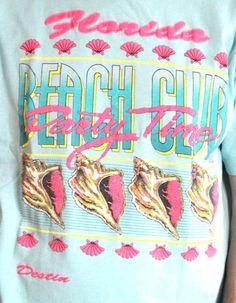 1990s Florida Vintage Surf, Vintage Tees, Retro Vintage, Club Tropicana, Design Retro, Sticker Design, Cool T Shirts, Screen Printing, Graphic Tees