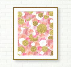 Pink Gold Prints Vanity Art Baby Girl Nursery Gold от PeachAndGold