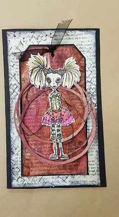 Artwork created by Natalie May using rubber stamps designed by Daniel Torrente for Stampotique Originals
