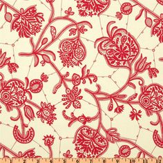 Amy+Butler+Lark+Dreamer+Souvenir+Ivory from Designed+by+Amy+Butler+for+Westminster+Rowan,+this+cotton+print+fabric+is+perfect+for+quilting,+apparel+and+home+decor+accents.+Colors+include+red+and+ivory. Textile Design, Textile Art, Fabric Patterns, Print Patterns, Amy Butler Fabric, Pillow Fabric, Textiles, Decoupage Paper, Art Background