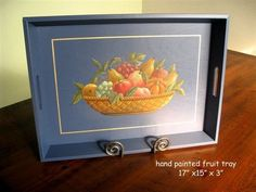 Beautiful painted country fruit tray