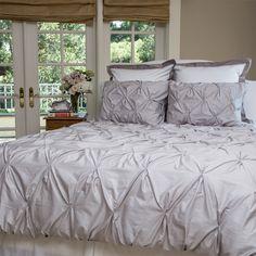 Dove grey pintuck bedding