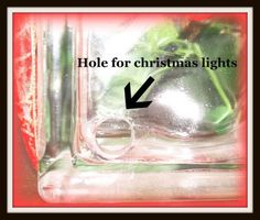 Super Saturday Crafts: Lighted Glass Block. Instructions how to DRILL the hole.