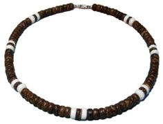 "Native Treasure Brown Coco 2 Cone Shell Puka Shell Necklace Mens Surfer Beach Beaded Choker - 18 Inch by Native Treasure. $18.95. You have found an Authentic Native Treasure Coco and Puka Shell Necklace.  ....It is our standard 18"" length and is ideal for Men, Women, Boys, Girls, Teens and Kids. Also very popular with the surfing crowd.  .....This Puka Shell Necklace is Beautifully Hand-crafted in our Tropical Jewelry Shop by our own Native Island Artisans usi..."