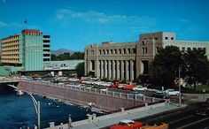 Reno Post Office & Holiday casino postcard.