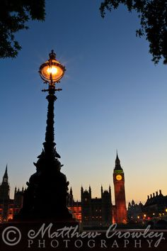 Westminster Palace at Blue Hour - London, England