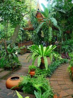 ideas garden tropical ideas landscaping - Garden Care, Garden Design and Gardening Supplies Bali Garden, Balinese Garden, Diy Garden, Garden Care, Dream Garden, Garden Projects, Garden Pots, Balcony Gardening, Kitchen Gardening