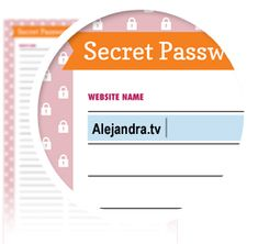 Secret Password List - Download here: https://www.alejandra.tv/shop/printable-home-organizing-checklists/?utm_source=Pinterest&utm_medium=Pin&utm_content=Checklistk&utm_campaign=Pin   Use this list to write down all of your secret logins/usernames and passwords/codes so you don't forget or get confused the next time you log into a website.