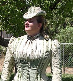Anatomy of a 1880s reproduction bodice with layered Vest