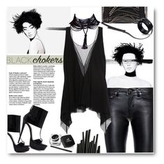 """""""56. Black Choker Style"""" by milva-bg ❤ liked on Polyvore featuring Chanel, Yves Saint Laurent, Faith Connexion and Rick Owens"""