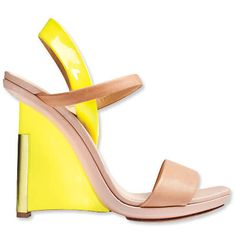 Reed Krakoff SS 2012 shoes  Destination Canari: yellow is the next comming summer colour