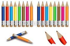 Vecteur : Mini crayons de couleur 2