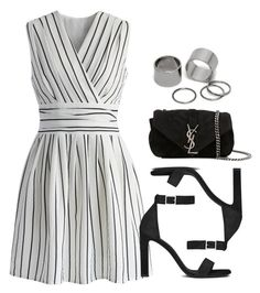 A fashion look from May 2017 featuring Chicwish dresses, Yves Saint Laurent sandals and Yves Saint Laurent handbags. Browse and shop related looks. I Love Fashion, Trendy Fashion, Fashion Looks, Womens Fashion, Classy Outfits, Stylish Outfits, Fashion Outfits, Outfit Chic, Looks Party