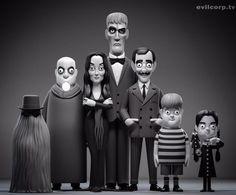 The Addams Family vinyl dolls Vinyl Toys, Vinyl Art, 3d Character, Character Concept, Addams Family Tv Show, Art Jouet, Minis, Halloween Countdown, Modelos 3d